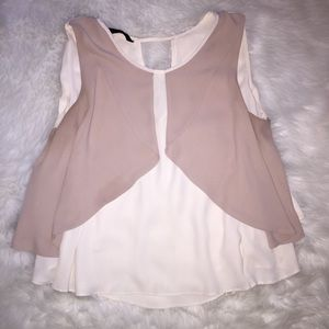 Zara Basic Sleeveless Swing Style Top
